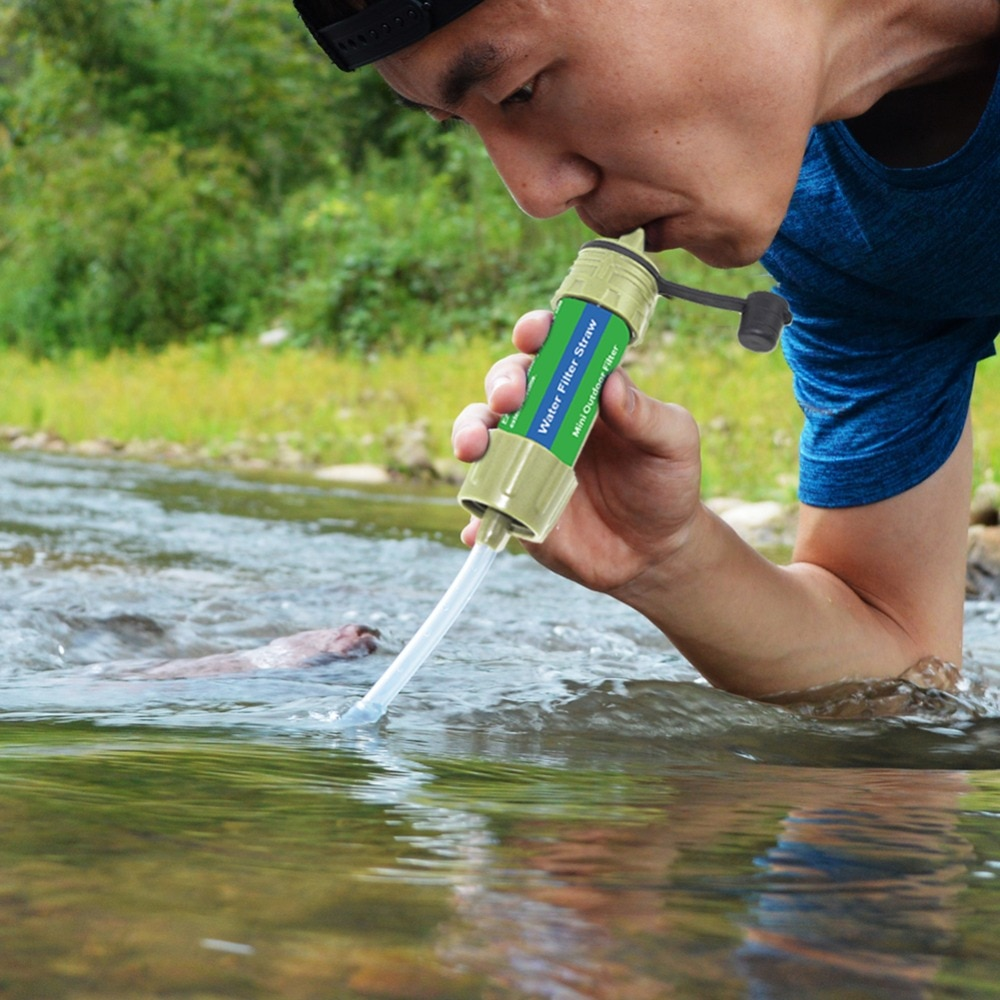 Outdoor Water Purifier 0.01 Micron Filtration Water Filter Camping Hiking Travel Emergency Life Survival Portable Purifier