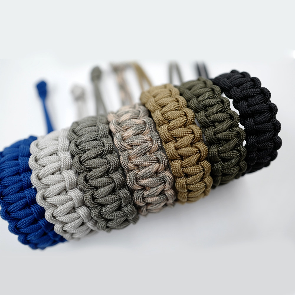 7 Colors Adjustable Survival Emergency Bracelet 550 Paracord Cord Bracelet Weaving Cord For Camping Hiking Outdoor Accessories