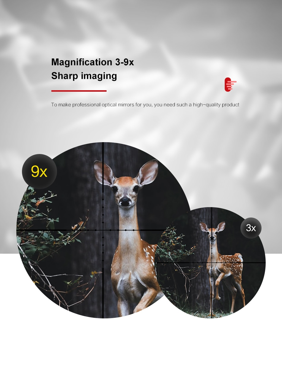 VOMZ 3-9X40 Scope Wire Rangefinder Reticle Hunting Deer Air Rifle   Crossbow Mil Dot Reticle Riflescope Tactical Optical Sights
